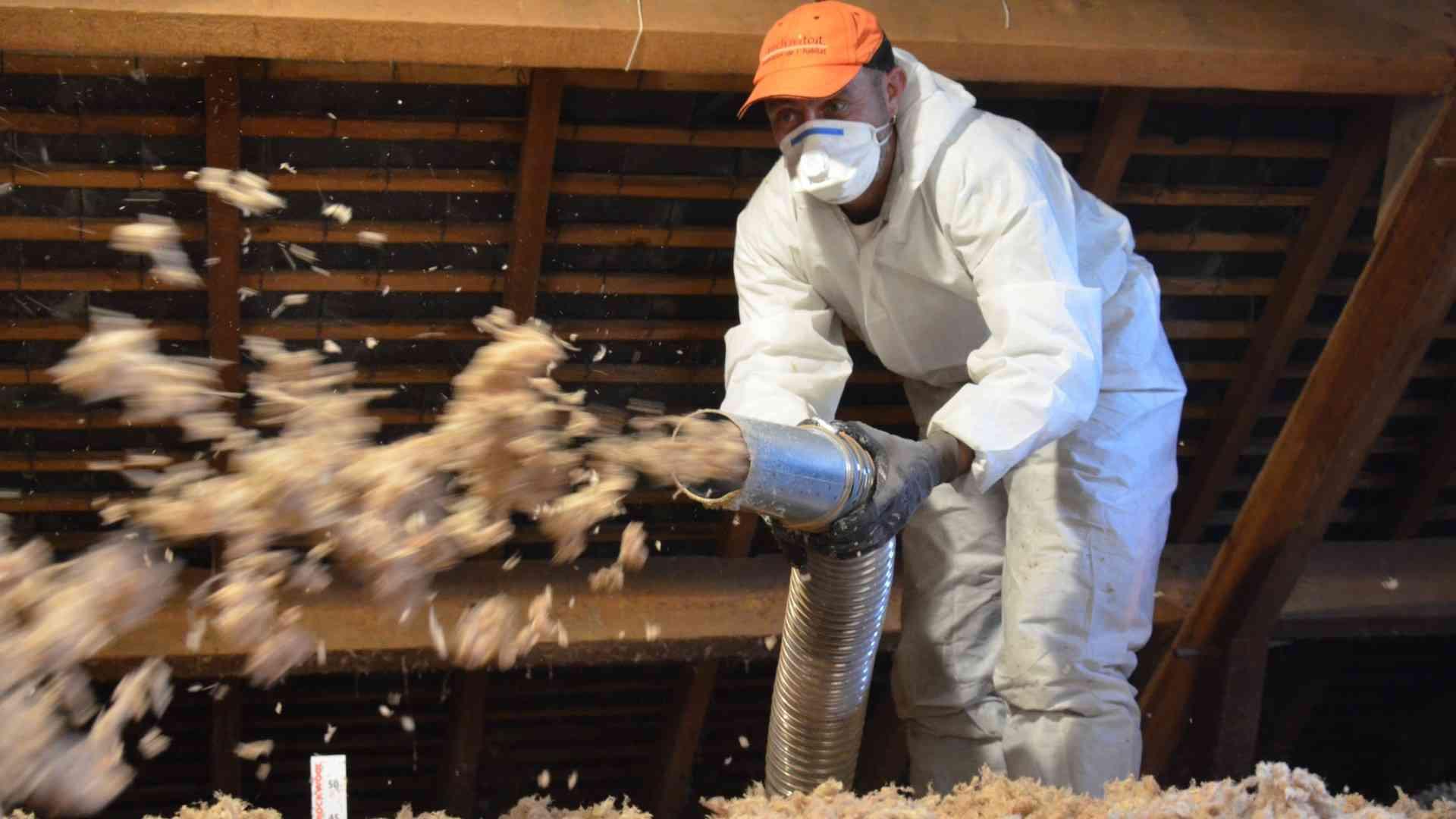 pulvérisation laine isolante